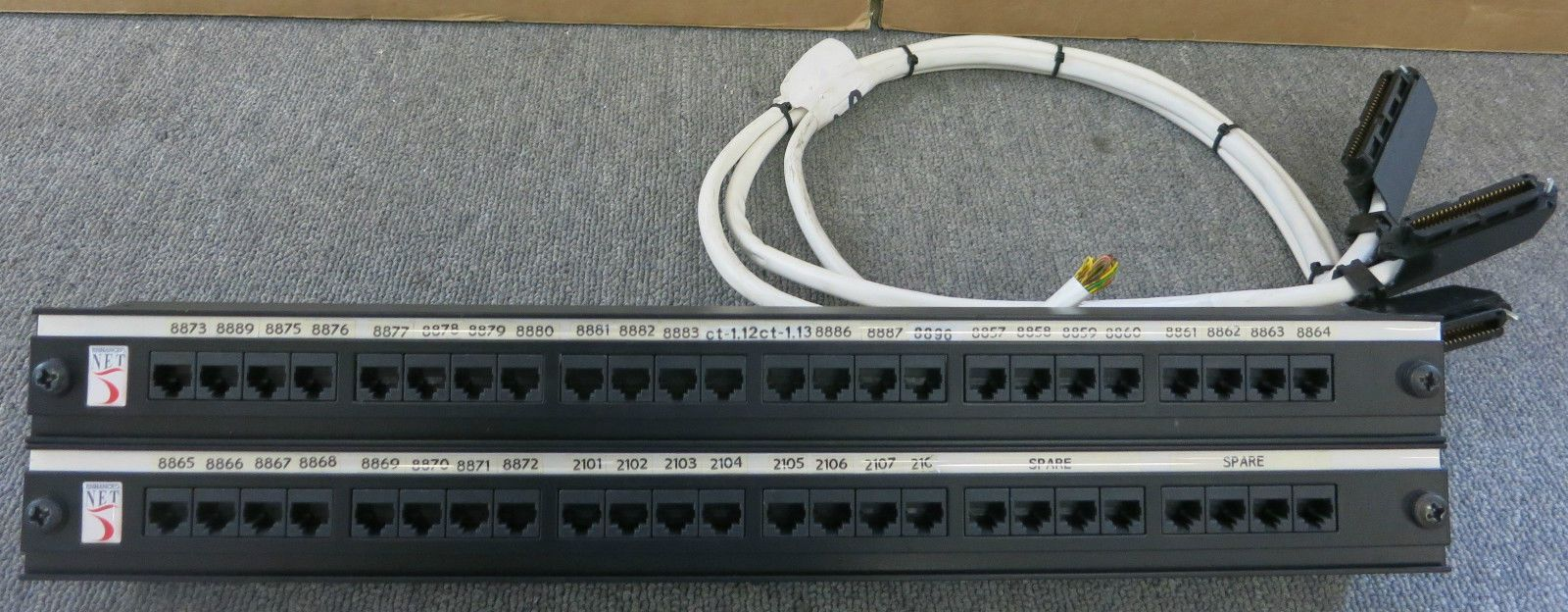 Enhanced Net 48 Port Ethernet Rj45 Network Patch Panel 1u For Of Rack System On Wiring House Mount